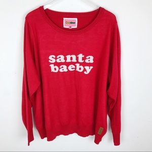 Tipsey Elves Santa Baeby Ugly Christmas Sweater 2X
